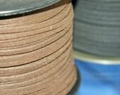 Faux suede cord choose black or brown / price per yard