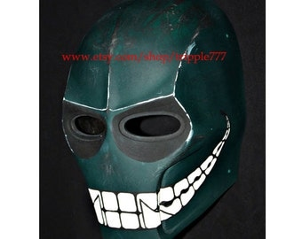 Army of two mask, Paintball airsoft mask, Halloween mask, Steampunk mask, Halloween costume & Cosplay mask, S2 green smiley MA100 et