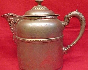 Serving Pitcher Antique Pewter and Copper Rochester Stamping Works