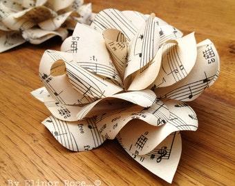 Vintage Music Paper Rose (Set of 5)