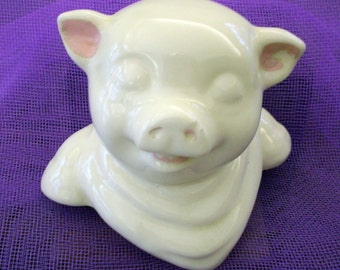 Vintage Shawnee Pig - Replacement Cookie Jar Cover, Decor - 1950's  -  Rare, Collectible!