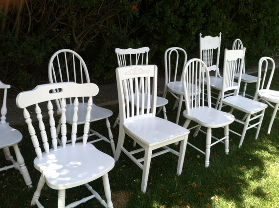 Painted chairs mix and match set of 6 dining by thepaintedldy