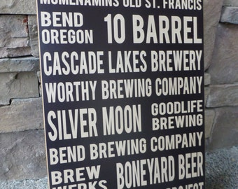 Wall Sign - Breweries Bend Oregon