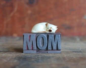 On sale: MOM vintage letterpress letters great mother's day or birthday gift idea medium