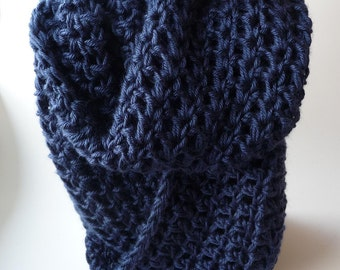 Knit Circle Scarf Knit Eternity Scarf Crochet Infinity Scarf Chunky Scarf Infinity Loop Scarf Chunky Cowl Scarf Neck Warmer Cowl Scarves