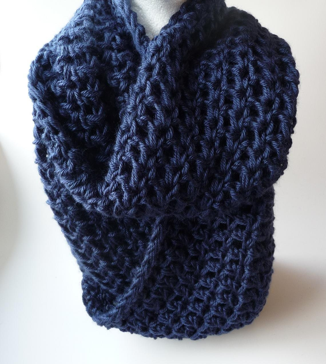 Knit infinity scarf chunky scarf loop scarf crochet cowl zoom bankloansurffo Image collections