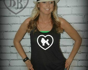 Poodle Love- Racerback Tank Top- Sizes S-XL. Other Colors Available