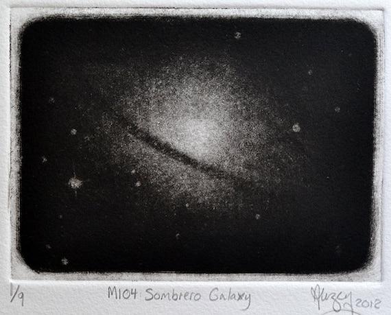 Galaxy Mezzotint - Hand Pulled