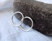 Simple Love Matching Bands -  Silver Round Wedding Bands for All Couples