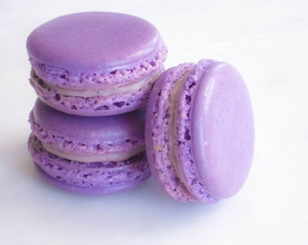French Macaron Cookies 12 Creme de Cassis Macaroons Gift Splendid Sweet