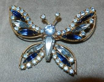 SALE Brooch Butterfly Signed Weiss