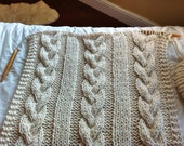 Pattern for Giant Cable Knit Blanket or Throw