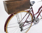 Bicycle Crate Upcycled from a Sunsweet Apricot Box - EleanorsNYC