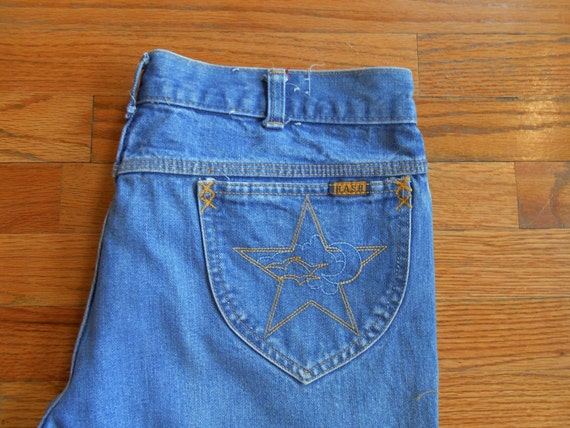 Hash Wide Leg Jeans Made In California With Embroidered Pocket