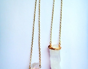 Halo || Wrapped Crystal Pendant Necklace