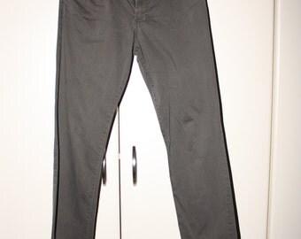 HALF PRICE Gray & Black Striped Pants