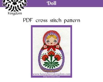 Matriochka - Russian Doll - Cross Stitch pattern- PDF