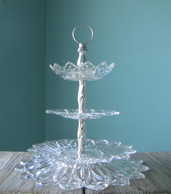 Gorgeous 3 Tier Glass Serving Tray 3 Tier Glass Stand Dessert