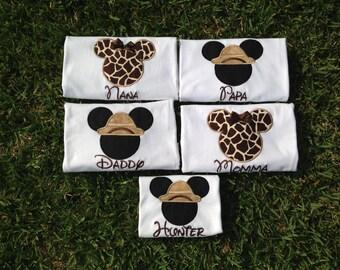 Safari - Disney World Shirts for the Family - Mickey & Minnie