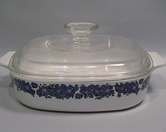 Centura Covered Casserole Dish by Corning - Pattern Evening Song