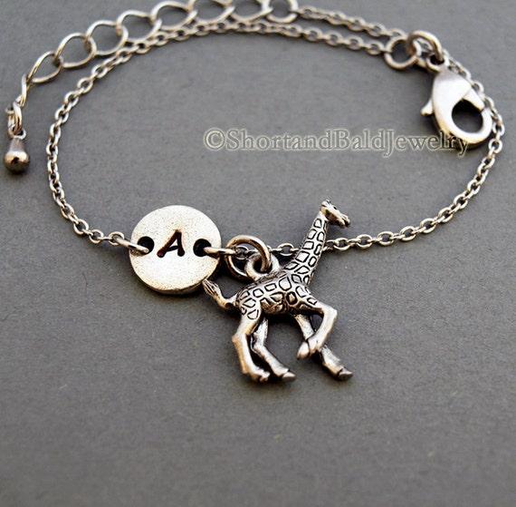 Small Giraffe Charm Bracelet Baby Giraffe By