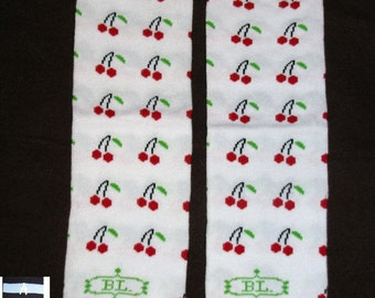 CHERRY CHERRIES baby leg warmers.  Great for babies, toddlers, and young kids