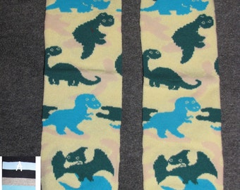DINOSAUR baby leg warmers.  Great for babies, toddlers, and young kids