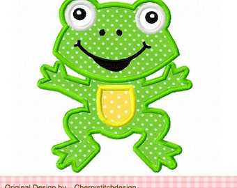 Embroidery design Frog Machine Embroidery Applique -4x4 5x5 6x6""