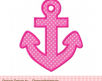 Anchor Machine Embroidery Applique Design -4x4 5x5 6x6""