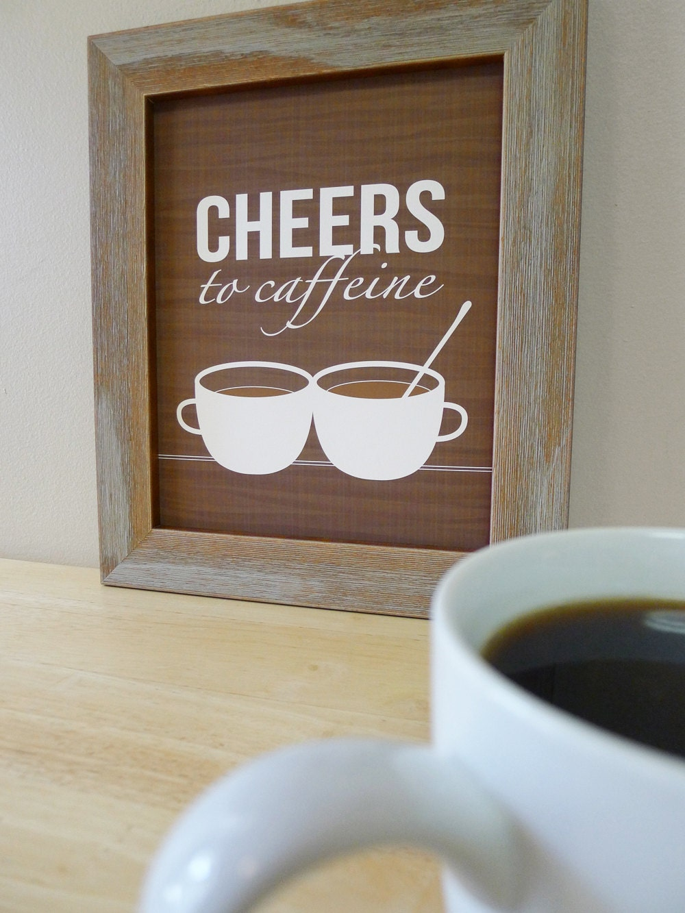 Coffee Prints Coffee Cup Wall Art Coffee Sign Kitchen