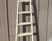 "Vintage Wooden 6 Step Ladder Shelf 66"" - 70"" tall - Choose a Vintage Surface or Pick a Color"