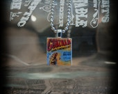 Godzilla: King of the Monsters (1956) Necklace- Recycled Scrabble Tile Pendant