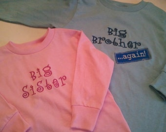 Custom Sibling LONG SLEEVE Shirt (Big/Little, Brother/Sister)