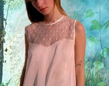 Satin combined with lace woman blouse, short sleeves, offwhite