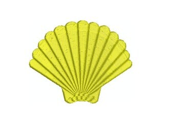 Machine Embroidery Design Instant Download - Scallop seashell