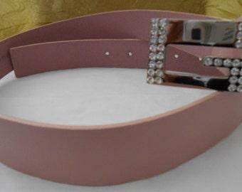 Vintage Pink Signed Guess Belt Genuine Leather