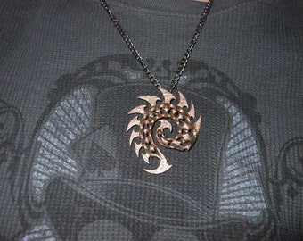 Zerg Charm 3D Printed in Stainless Steel