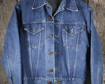 Vintage Sear's Roebucks Denim Jacket w/ Shotgun Buttons