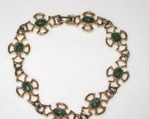 Clearance - Vintage Avon Mottled Green Stone Bracelet