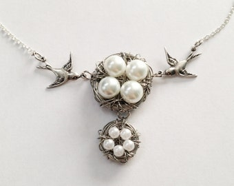 Double Birds Nest Necklace