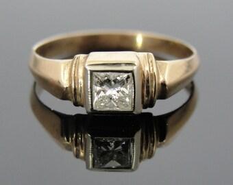 Antique R Monogram Pinkie Ring