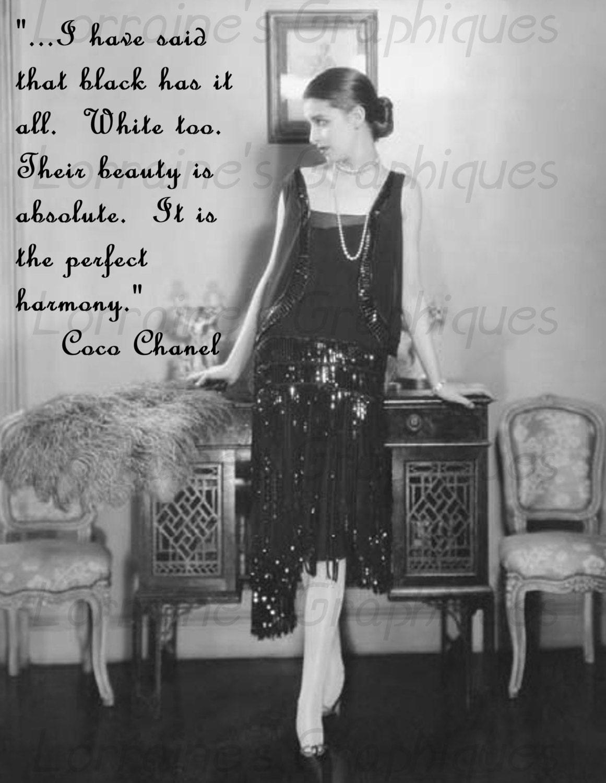 Black dress up quotes - Black Dress 1920s Style Quest