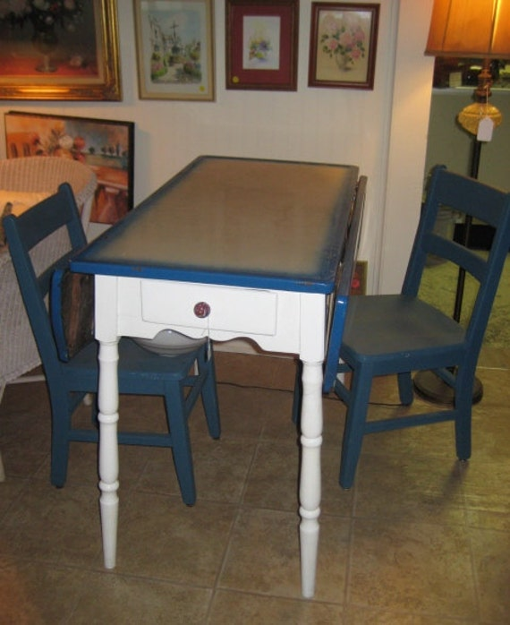 Vintage Enamel Top Kitchen Table Folding By TheShantyRoost On Etsy