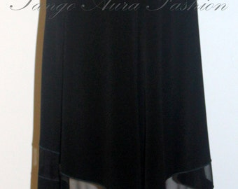 Solid Black, See-Through, Tail Tango Skirt