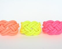 Neon Color Sailor Knot Nautical Knot Bracelet Statement Bracelet Braided Bracelet