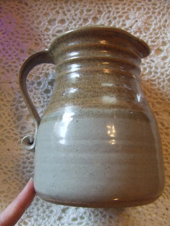 Vintage Pottery Pitcher Has Makers Mark On The Bottom Looks
