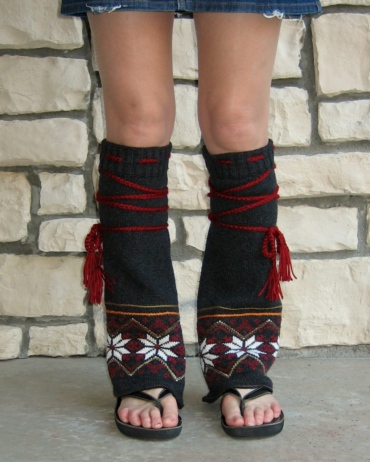 Tribal Flair' Leg Warmers Womans Hippie Clothing by ...