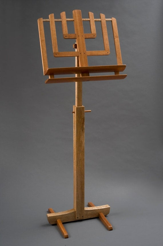 Music Stand Designs : Fine wood music stand by hershelswoodworks on etsy