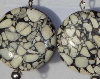 White Earrings, Black Earrings, Black and White Earrings, Black and White, Dangle Earrings