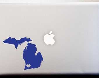 Michigan DECAL // Love Mitten State Your Hometown CAR DECAL